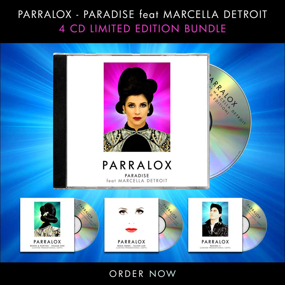 Click here to pre order Parralox - Paradise feat Marcella Detroit